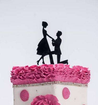 Topo de bolo noivos