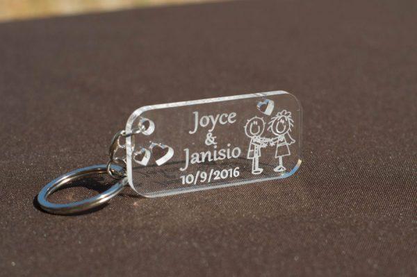 Porta-chaves para casamento